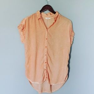 Beachlunchlounge Coral Peach Ombre Top